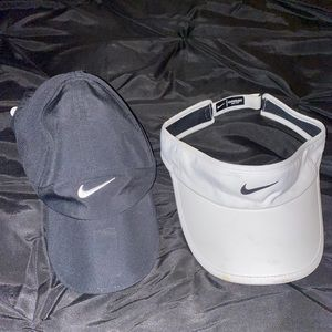 nike black and white hats